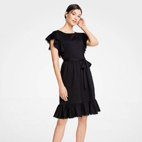 tie-waist-flutter-dress